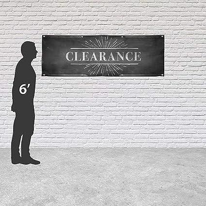 CGSignLab 12x4 Chalk Burst Heavy-Duty Outdoor Vinyl Banner Clearance