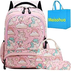 Unicorno Zaino Scuola Elementare Impermeabile Zaini Bambino Sacchetti di Scuola Per Ragazze leggero campeggio borse… 3 spesavip