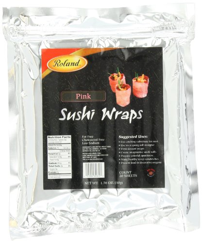 (Roland Sushi Wraps, Pink, 20 Sheets)