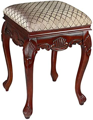 Design Toscano Madame Bouvier Boudoir Stool Finish Dark Cherry