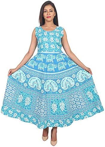 Monique Brand Women's Cotton Rajasthani Jaipuri Printed Maternity Summer