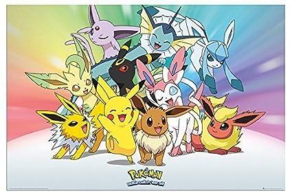 Pokemon Eevee Evolutions Poster Gloss Laminated