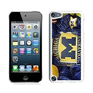 Unique And Durable Custom Designed Case For iPod Touch 5 With Michigan Wolverines White Phone Case