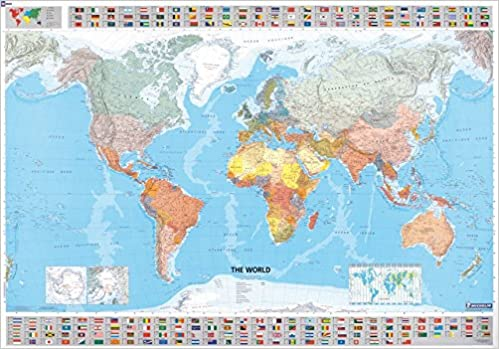 Michelin Map The World 12701 p Rolled MapsWall Michelin