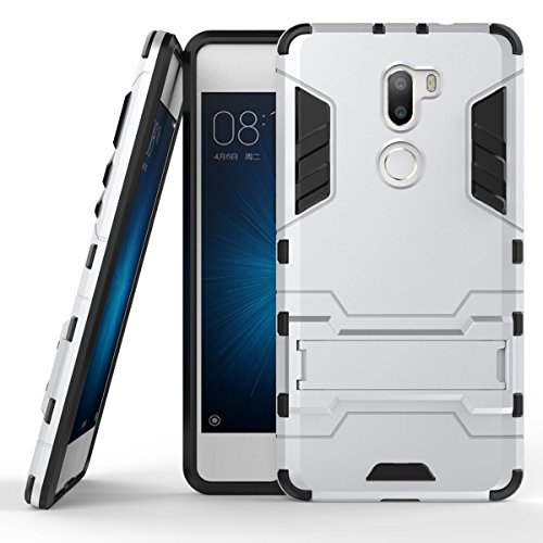 AICEDA Xiaomi Mi 5s Plus Case, [Cellphone Case ] [ Cellphone Case ] [ Accessories ] Protective Bumper Case Cover Shell Holster, Silver