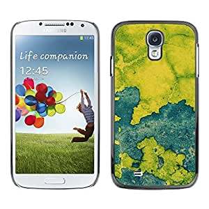 [Neutron-Star] Snap-on Series Teléfono Carcasa Funda Case Caso para Samsung Galaxy S4 [Azul Mapa Pintura rústica Chipped Leaf]
