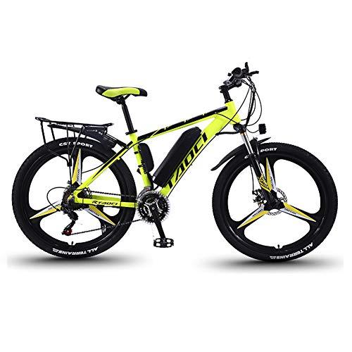 Elektrische Fietsen Voor Volwassenen, Mens Mountain Bike, Magnesium Alloy Ebikes Fietsen All Terrain, 26″ 36V 350W Verwisselbare Lithium-Ion Batterij Fiets Ebike, Voor Outdoor Cycling