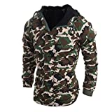 HTHJSCO Men's Jackets Outdoor Waterproof Softshell Hooded Tactical Jacket (Camouflage, XL)