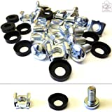 20 Pack of M6 Cage Nuts Screws Washers 19' Data Network Rack Cabinet Mount PDU