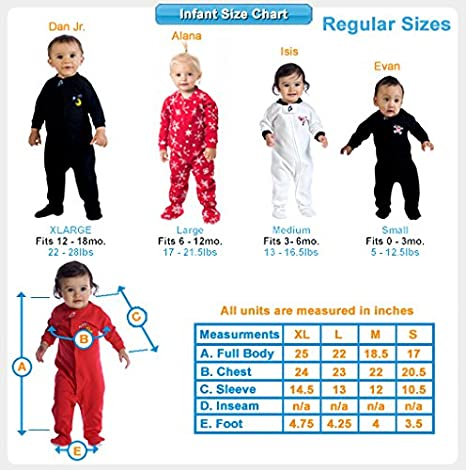 fd241781e Amazon.com: Footed Pajamas - Creamsicle Infant Hoodie Fleece Onesie -  Small: Clothing