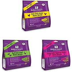 Stella & Chewy's Freeze-Dried Raw Dinner Cat Food Variety Pack of 3 (Chicken, Duck and Salmon & Chicken), 3.5 oz. each