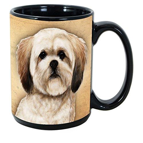 Imprints Plus Dog Breeds (E-P) Lhasa Apso 15-oz Coffee Mug Bundle with Non-Negotiable K-Nine Cash (lhasa apso 111)