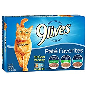 9 Lives Pate Favorites Variety Pack Canned Cat Food