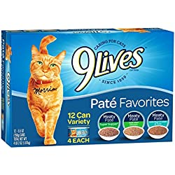 9Lives Paté Favorites Wet Cat Food Variety Pack, 5Oz Cans (Pack Of 12), Pack