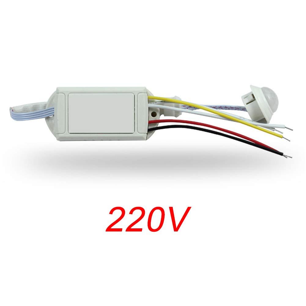 Voir Image 220v contr/ôle de la Voix et de la lumi/ère allumage et arr/êt Automatique Jour//Nuit Faderr Interrupteur sensoriel LED d/étecteur de Mouvement Infrarouge