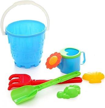 YeahiBaby Juguete Cubo de Playa de Plástico para Playa Jardín para Niños 6 Piezas (Color Al Azar): Amazon.es: Juguetes y juegos