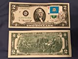 x1 UNC 1976 $2 Bill/Note - FIRST DAY OF ISSUE w/Stamp - Uncirculated Perfect Condition
