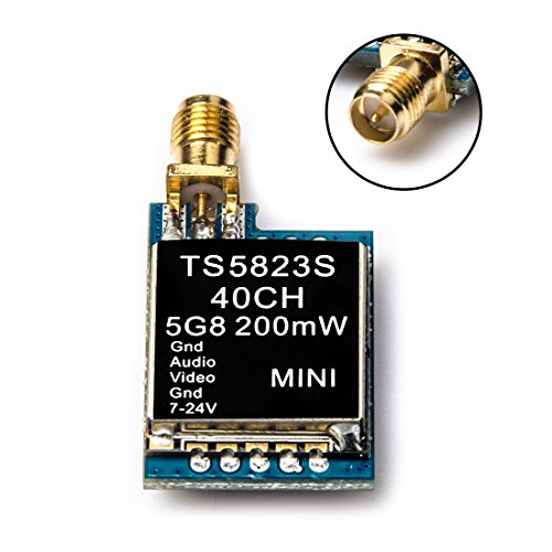 AKK TS5823S 5.8G 40CH 200MW RP-SMA Female Mini FPV AV Transmitter for FPV Racing Drone