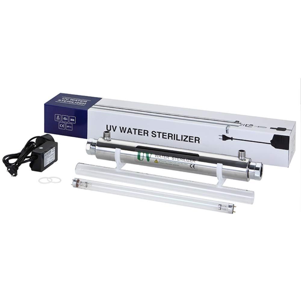 GXHGRASS Filtro Acqua per sterilizzatore UV filtrazione filtrazione UV Ultravioletta a 30W (8TPM (1.8T / H), Maschio, 3/4″con Allarme di Sicurezza per Ballast Prezzi