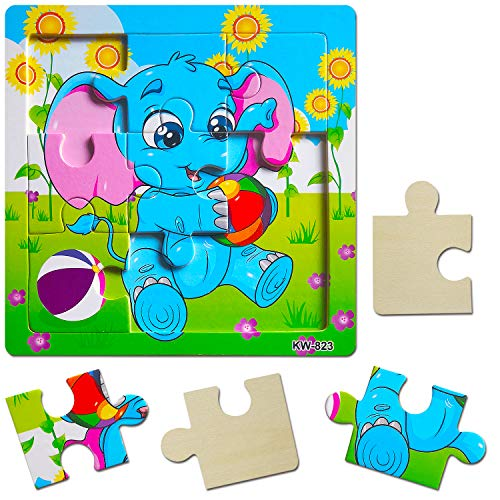 Wooden Jigsaw Puzzles Set for Kids Age 2-5 Year Old ...