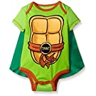 Teenage Mutant Ninja Turtles Baby Boys' Bodysuit with Cape, Green, 0-3 Months