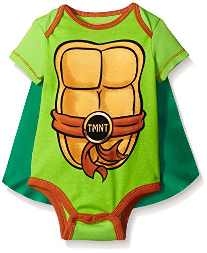 Ninja Turtle Suits (Teenage Mutant Ninja Turtles Baby Boys' Bodysuit with Cape, Green, 6-9 Months)