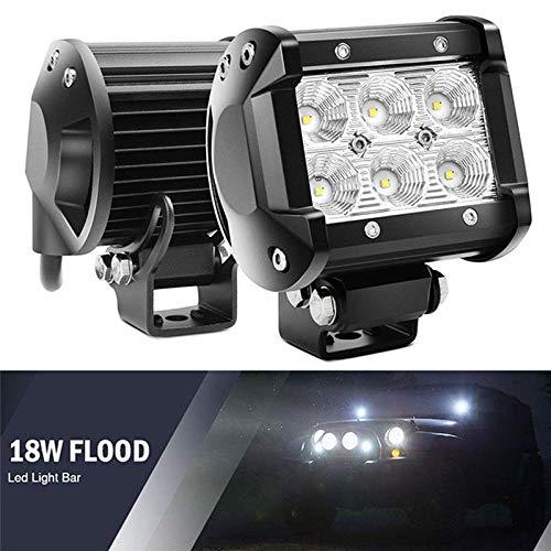 NANGE 18W Car Led Light Bar,Flood Motorcycle Tractor Boat Off Road Truck,LED Work Light Lamp Chip 4'',2Pcs/lot (Edition : Flood Beam)