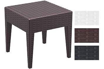 CLP Table Basse Design de Jardin Miami Hauteur de 45 cm en Plastique Aspect  Rotin Empilable et Résistant aux UV et à l\'eau - Conserve sa Couleur - ...