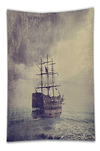 Pirate Instant Dress Set Up (Nalahome Fleece Throw Blanket old pirate ship in the sea fine art image with golden and canvas texture added 148143068)