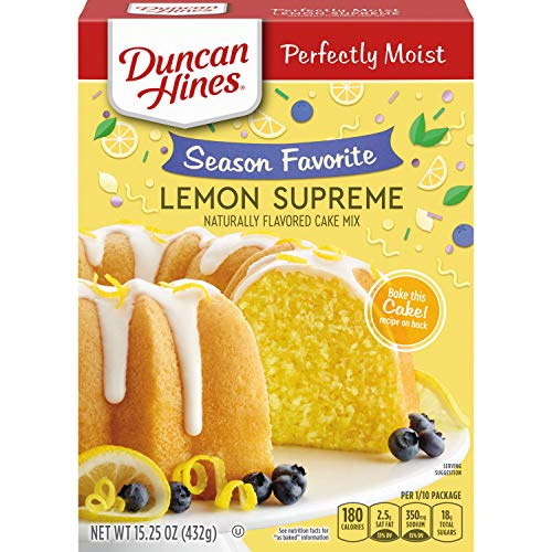 Duncan Hines Signature Cake Mix, Lemon Supreme, 15.25 Ounce