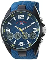 U.S. Polo Assn. Men's Analog-Quartz Watch with Rubber Strap, Blue, 27 (Model: US9598