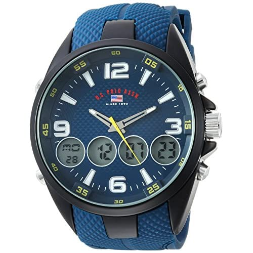 191aaa2eb5 U.S. Polo Assn. Men's Analog-Quartz Watch with Rubber Strap