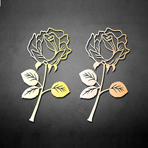 Rose Metal Book Marker Ideas Set, 2 Pack Creative Bookmarks with Gift Card for Friends or Family
