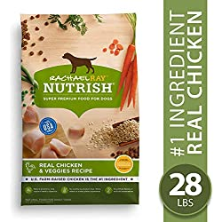 Rachael Ray Nutrish Real Chicken & Veggies Recipe Dry Dog Food, 28 Pounds