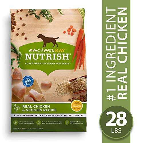 Rachael Ray Nutrish Real Chicken & Veggies Recipe Dry Dog Food, 28 Pounds (Best Fruits And Veggies For Dogs)