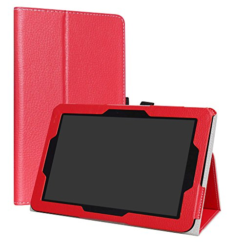 Verizon Ellipsis 10 Case,LiuShan PU Leather Slim Folding Stand Cover for 10