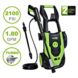PowRyte Elite 2100PSI 1.8GPM Electric Pressure Washer with Adjustable Spray...