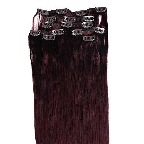 Clip Hair Extensions, Grammy 22 Inch 7pcs Remy Clips in Huma