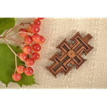 Mens Cross Pendant Wooden Jewelry Handmade Cross Necklace Designer Accessories