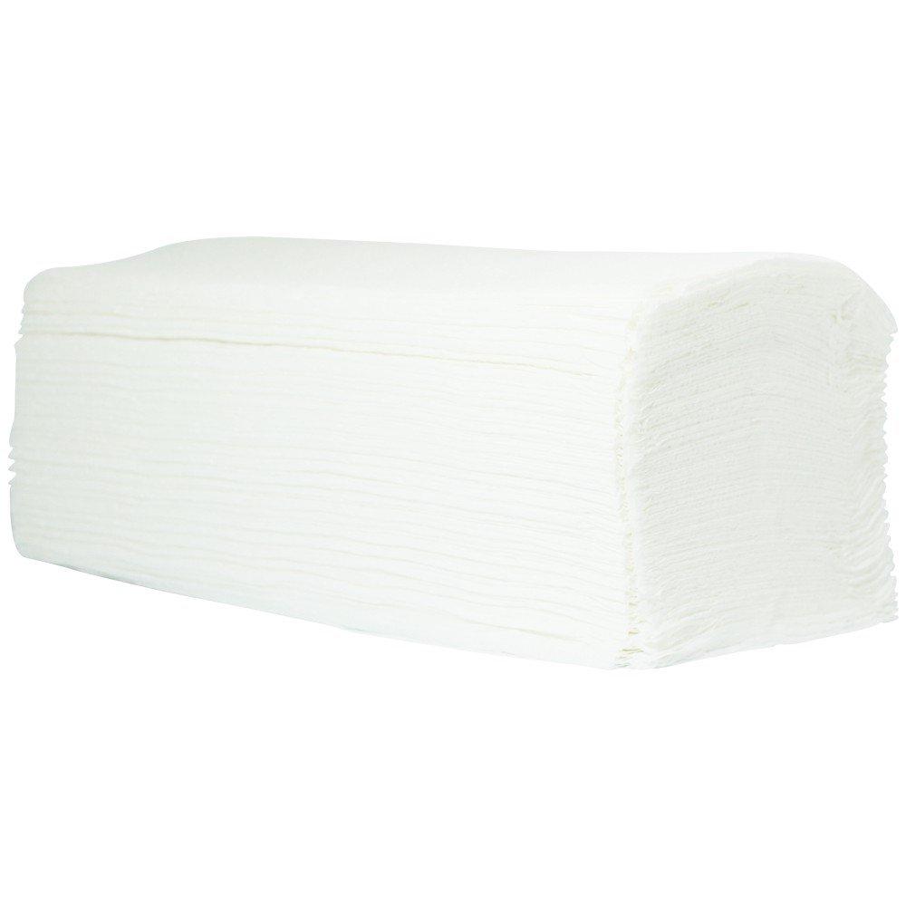 3200 X asciugamano in carta 2 Veli 25 x 23 cm a zig zag polpa Bianco Luminoso SANISMART