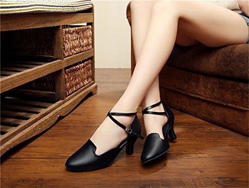Jance Womens Bout EU41 Tango Cuir Haut Latine Paillettes heeled6cm PU De Fermé Danse Black Salsa UK7 Chaussures Mary Ballom JSHOE Talon Our42 Moderne Danse ZpqfwZxd