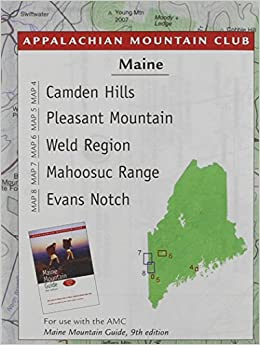 Buy Maine Mountains Trail Map Camden Hills Pleasant Mountain Weld