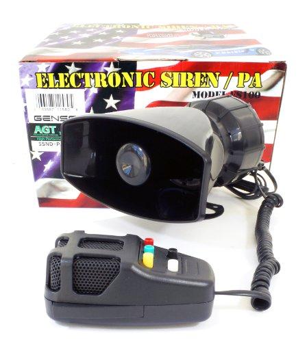 Police Siren 5 Tone PA System 60W Emergency Sound (Police Grade Pa System)