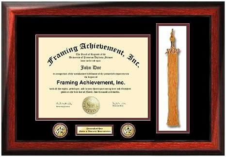 Double diploma frame graduation tassel holder box high school degree college certificate university document framing plaque