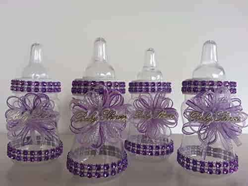 bc25840fa 12 Purple Fillable Bottles for Baby Shower Favors Prizes or Game Girl  Decoration