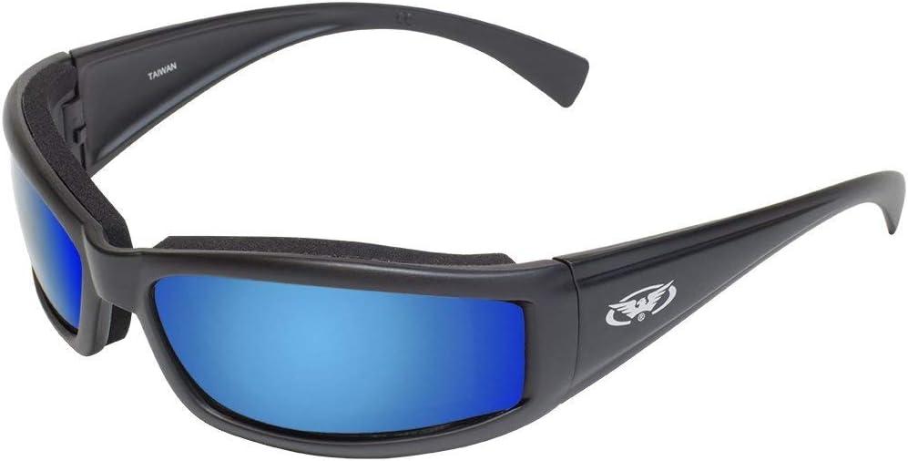 Frame Global Vision Eyewear Stray CAT GT Blue Stray Cat Motorcycle Glasses G-Tech Blue Lens Black