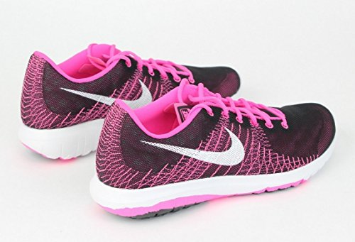 Nike Garçons Flex Fury Gs Powsneakers Black/White/Pink Pow/Vivid Pink UBHqW