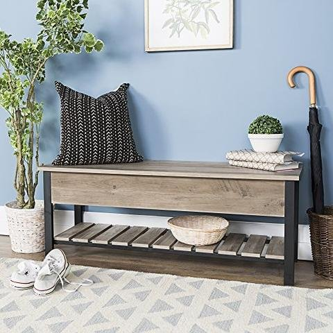 Storage Bench Mobile Vanity (ioneyes Desk Gray Bench Storage VATNY88950107YXYX)