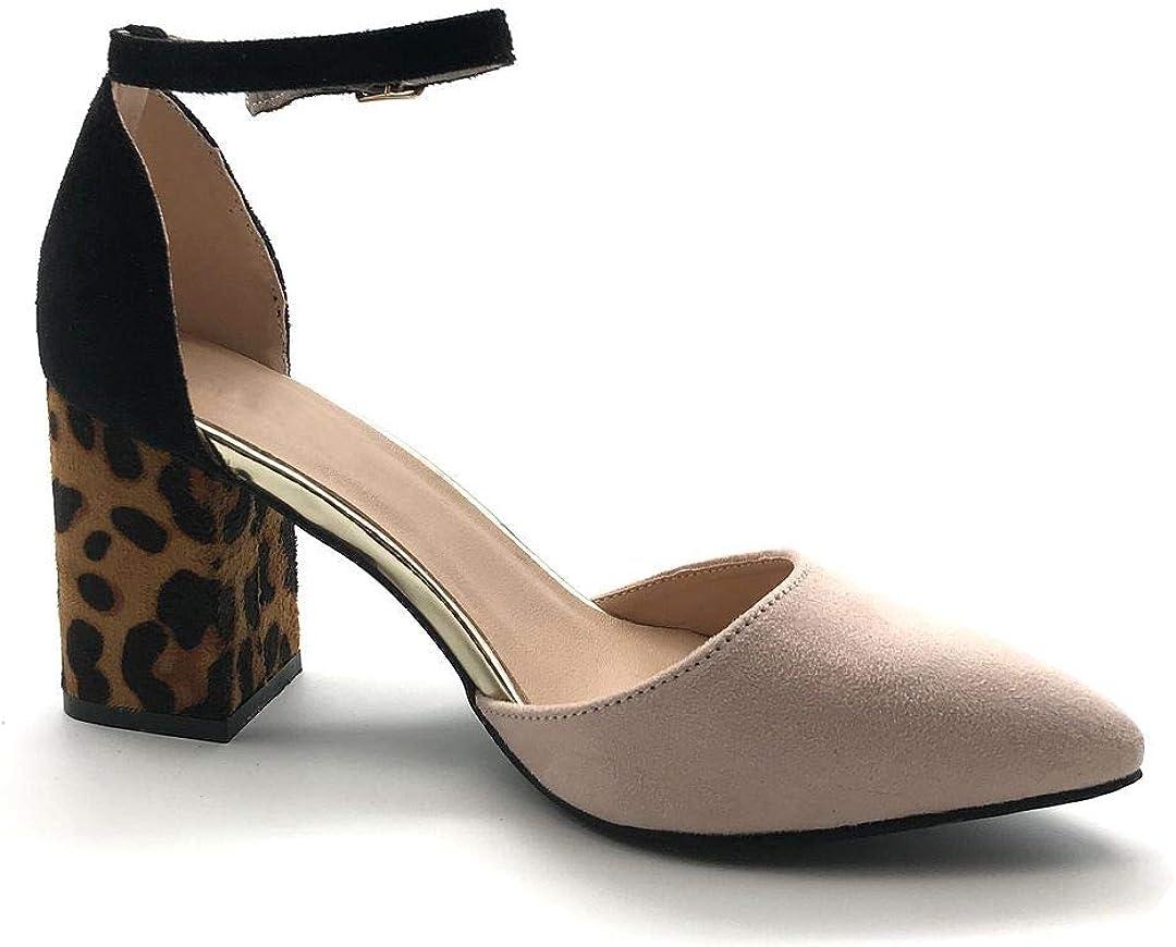 Chaussure Mode Escarpin Sandale soir/ée Glamour Petits Talons Femme Lani/ères crois/ées m/étallique Brillant Talon Haut Bloc 6.5 CM Angkorly