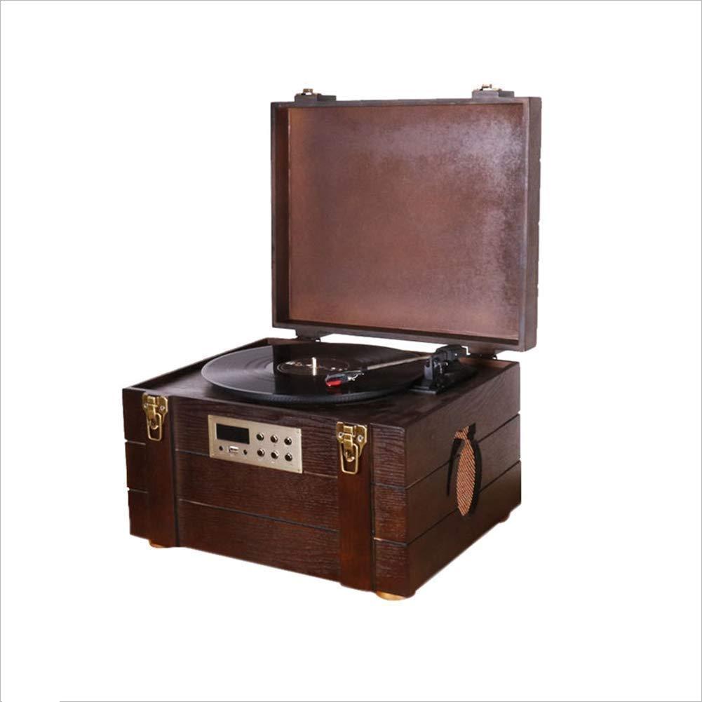 BeiMi Clásico Retro fonógrafo Caja de municiones LP Reproductor de ...